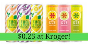 Kroger: Lemon Lemon and IZZE Fusions Only $0.25 Each!