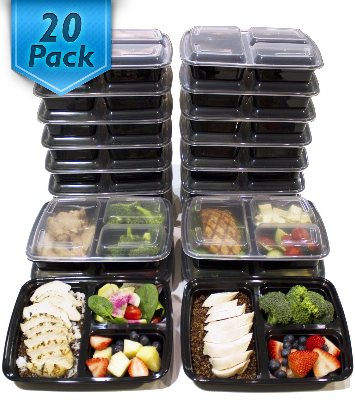 meal prep containers 20 count set only best price become a coupon queen. Black Bedroom Furniture Sets. Home Design Ideas