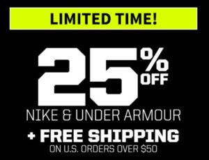 MLBShop.com: Up to 25% OFF Nike and Under Armour + FREE Shipping!