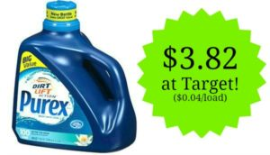 Target: Purex Liquid Laundry Detergent Only 4 cents per Load!