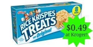 Kroger: Rice Krispies Treats Only $0.49!