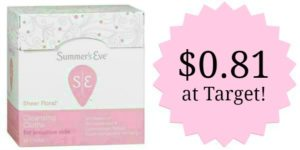 Target: Summer's Eve Wipes Only $0.81!