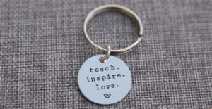 Teacher Keychain | Teacher Appreciation Gift – Was $19.99 – Ships for $9.64!