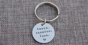 Teacher Keychain | Teacher Appreciation Gift – Was $19.99 – Ships for $9.64!