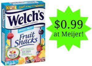 Meijer: Welch's Fruit Snacks Only $0.99!