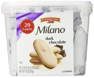 Pepperidge Farm Milano Cookie Tub, 20 2-Packs Only $5.99 ($0.15/Pack)!
