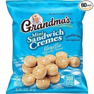Pack of 60 Grandma's Vanilla Creme Minis Sandwich Cookies as low as $12.19 ($0.30 per Bag)! Best Price!