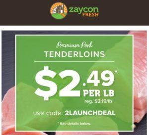 Zaycon Fresh Pork Tenderloins Only $2.49 per Pound!
