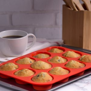 24 Cup Non-Stick Silicone Muffin & Cupcake Baking Pan Only $7.99!