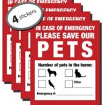 Pack of 4 Emergency Pet Finder Stickers Only $6.24!