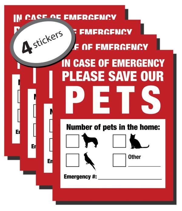Emergency Pet Finder Stickers