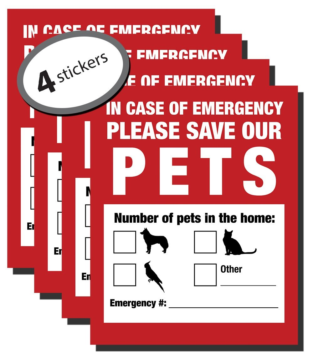Pack Of 4 Emergency Pet Finder Stickers Only 6 99