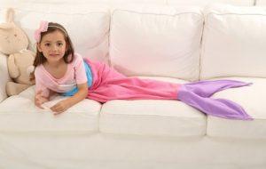 Girls Rainbow Mermaid Tail Blanket Only $10.99!