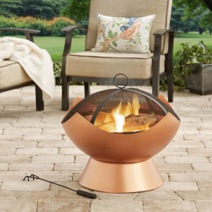Modern Copper Finish Wood-Burning Firebowl Only $38.43! (was $87.49)