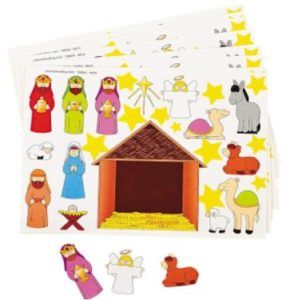 Pack of 24 Make a Nativity Scene Sticker Sheets Only $5.43!