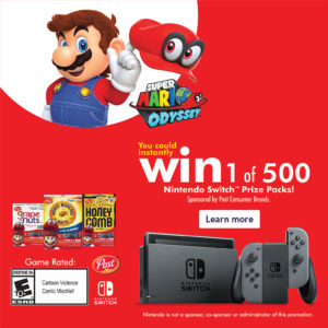 Enter to Win 1 of 500 Nintendo Switch Prize Packs!