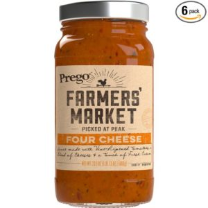 Prego Farmers Market Sauce, Four Cheese, 23.5 Ounce (Pack of 6) Only $0.53 per Jar!!