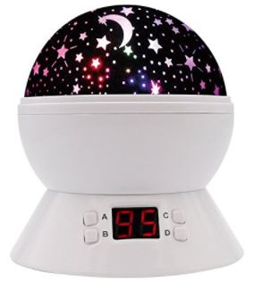 Rotating Star Sky Projection Night Light