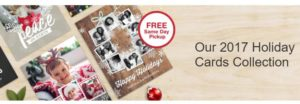 Save 50% on Holiday Cards + FREE Same Day Pickup at Walgreens!
