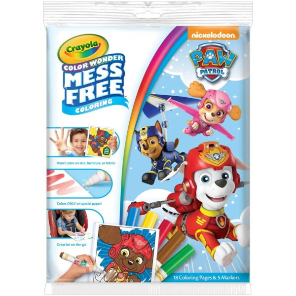 Crayola paw patrol color wonder coloring pad markers for Michaels arts and crafts queens