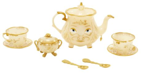 Beauty & The Beast Live Action Enchanted Tea Set