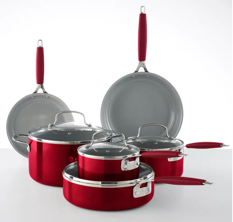 Food Network 10-pc. Ceramic Cookware Set ONLY $44.49! (was $129.99)