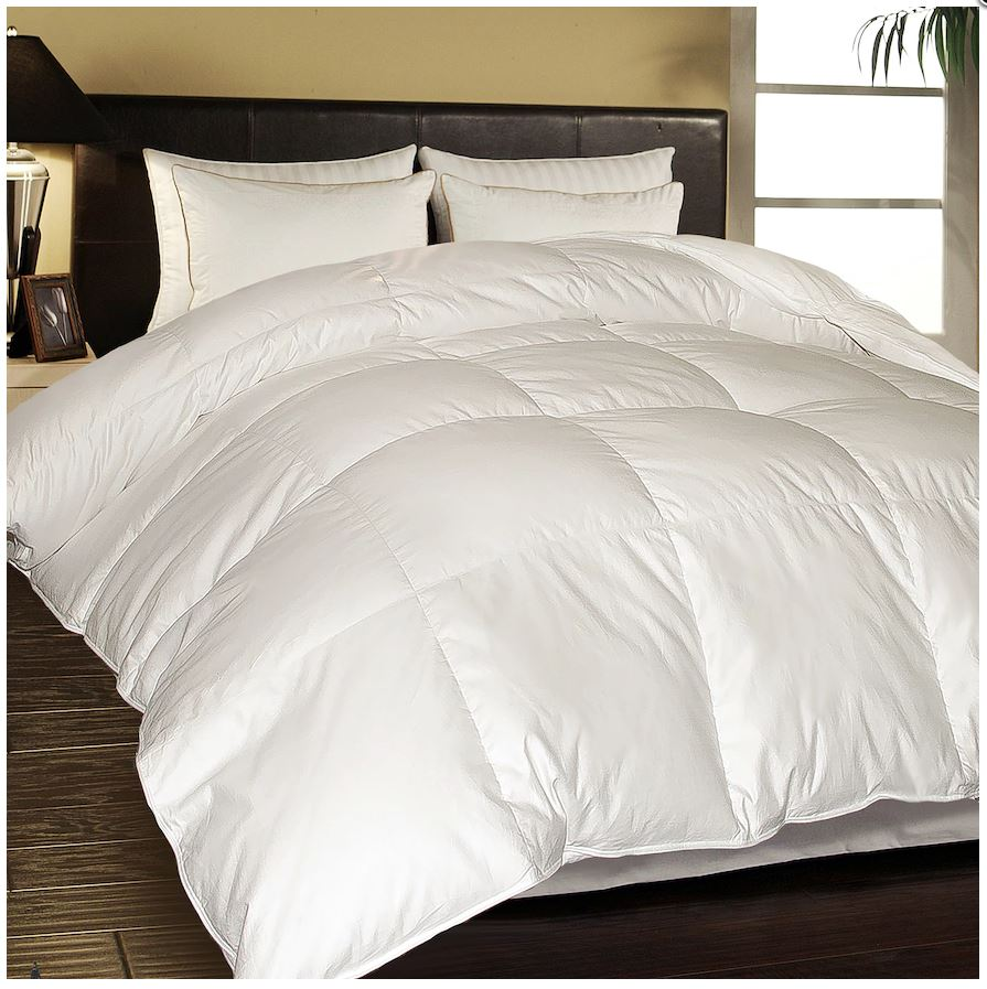 hotel suite white goose down feather comforter was become a coupon queen. Black Bedroom Furniture Sets. Home Design Ideas