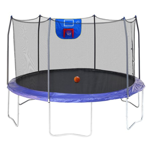 Jump N' Dunk Trampoline with Safety Enclosure and ...