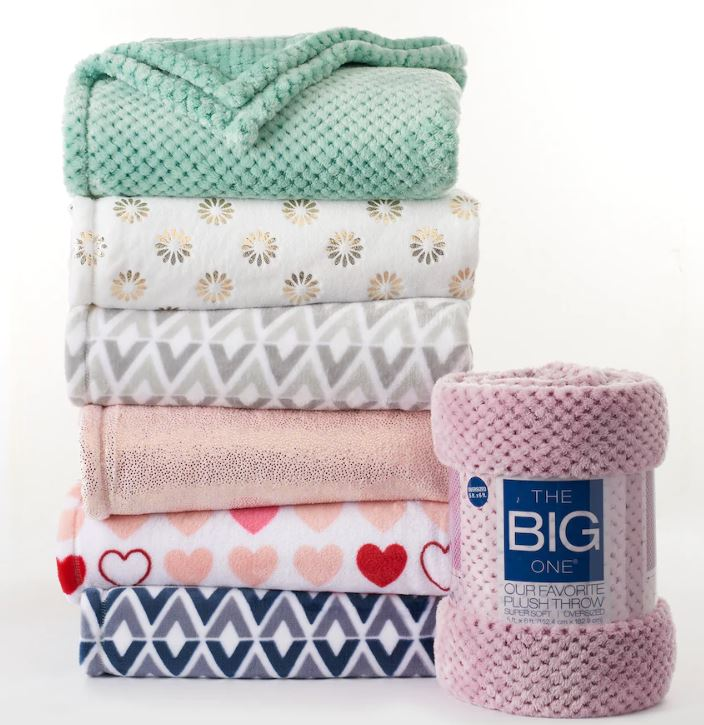 The Big One Super Soft Plush Throw Only $7.64!