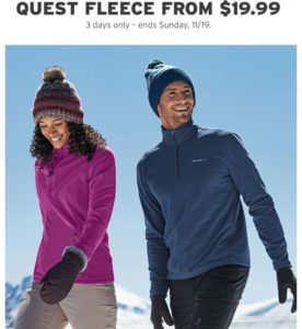 Eddie Bauer Quest Fleece Only $19.99 Shipped! (was $50)