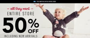 50% Off Everything + $25 Off $100 + FREE Shipping at Gymboree.com!