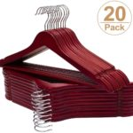 20 Premium Wooden Hangers - Walnut Finish Only $11.49!