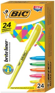 BIC Brite Liner Highlighter 24-count Only $3.57! (reg. $11.99)