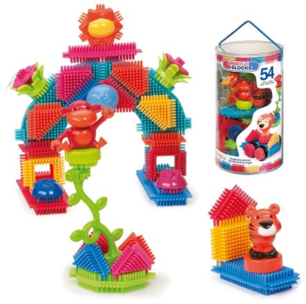 Bristle blocks toy building blocks 54 piece set only 12 for Cost of building blocks in jamaica 2017