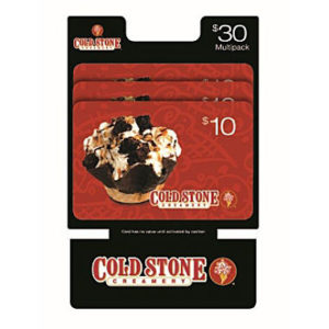 $30 Cold Stone Gift Cards Only $24.98!