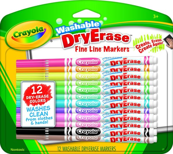 Crayola Washable Dry-Erase Markers, 12 Count Only $4.41