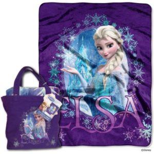 Disney Frozen Queen Elsa Tote and Throw Set Only $8.98!