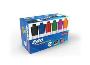 Expo 2 Low-Odor Dry Erase Markers 12-pack Only $8.16!