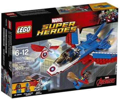 LEGO Super Heroes Captain America Jet Pursuit Building Kit