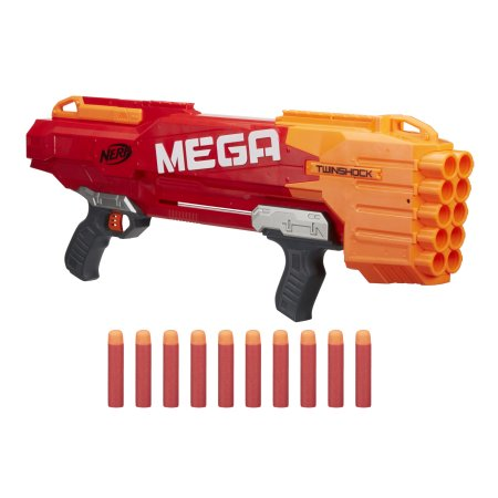 You can also get the Nerf N-Strike Mega TwinShock for just $16.97, down  from $39.99! This Nerf gun is $24.97 on Amazon.
