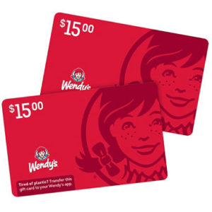 Wendy's $30 Value Gift Cards Only $24.98!