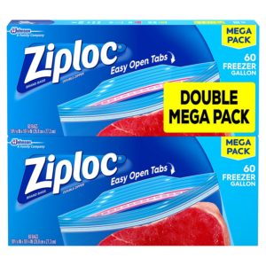 Ziploc Freezer Bags, Gallon, 120 Count as low as $8.52 Shipped!