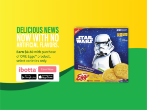 Save $0.50 on Eggo Products at Walmart including Star Wars Galaxy Adventure Buttermilk Pancakes!