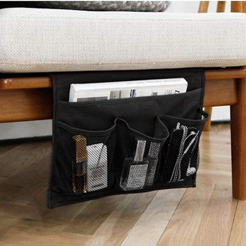 Bedside Storage Caddy Only $6.99! Store TV Remotes, Books, Phones & More!