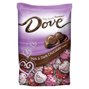 DOVE PROMISES Valentine Milk and Dark Chocolate Candy Hearts Variety Mix Only $5.93!
