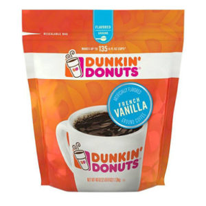 Dunkin' Donuts Ground Coffee 40oz, French Vanilla Only $9.81!