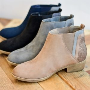 Faux Snake Ankle Booties – 4 Colors – $23.99!