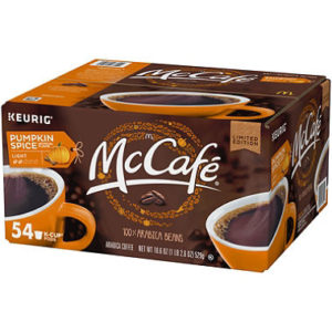 McCafe Pumpkin Spice Coffee K-Cups 54-count ONLY $9.81!!