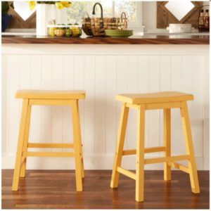 HomeVance 2-piece Reagan Saddle Counter Stool Set Only $57.99! (reg. $139.99)