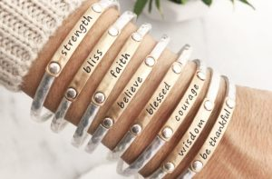 Inspiration Words Stacking Bangles Only $5.94!
